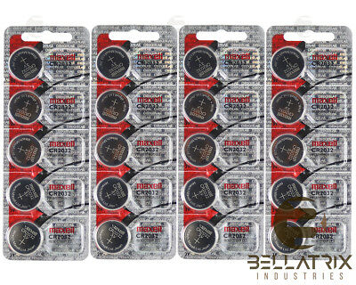20 PK Maxell CR2032 CR 2032 3V Lithium Batteries