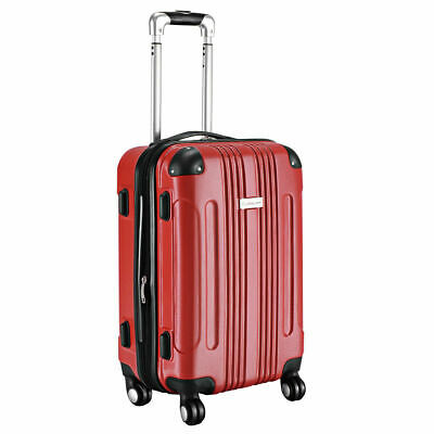 GLOBALWAY Expandable 20 ABS Carry On Luggage Travel Bag Trolley Suitcase Red