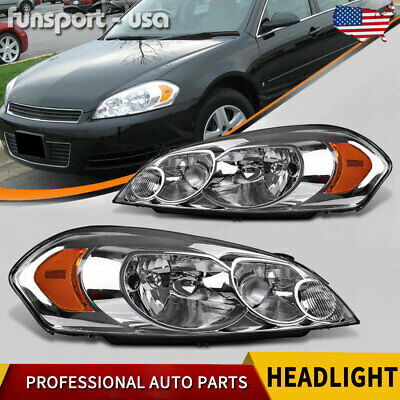 for 2006-2013 Chevy Impala 06 07 Monte Carlo Front Headlights Headlamps Assembly