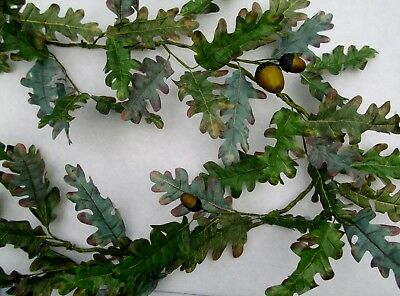 Autumn Oak Leaf and Acorns Garland Fall Leaves Thanksgiving Home Decor  60