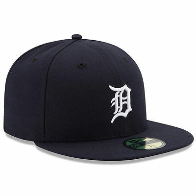 DETROIT TIGERS Home New Era 5950 Cap 59Fifty MLB Baseball Fitted Hat Navy White