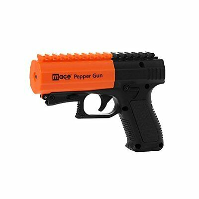 MACE Pepper Gun 2-0 with Strobe LED and Integrated Picatinny rail Black