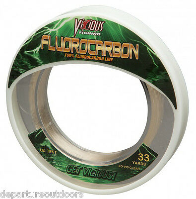 Vicious Fluorocarbon Leader Fishing Line 33 Yards Bass - Trout Fishing Line