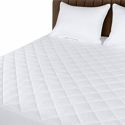 Mattress Cover Quilted Fitted Pad Stretches Up To 16 Deep Utopia Bedding