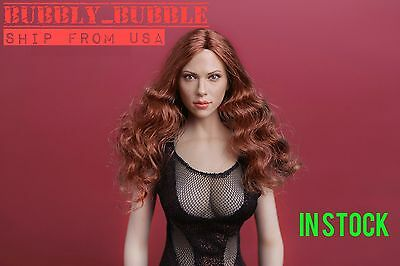 16 Scarlett Johansson Black Widow Head Sculpt For Phicen Hot Toys SHIP FROM USA