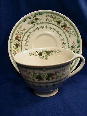 TEA CUP - SAUCER FLORAL PATTERN ROYAL DOULTON PROVENCAL MADE IN  ENGLAND BFB