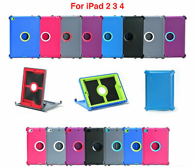For Apple iPad 2 3 4 th Gen Shock Case Cover Stand Fits Otterbox Defender New