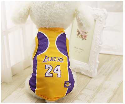 Dog Vest World Cup Football Clothes Pet Puppy Cat Apparel Purple Yellow 24 L