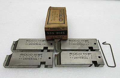 Vintage Set of Ridgid Dies for 535 Machine 12 - 34 NPT Pipe Free Ship