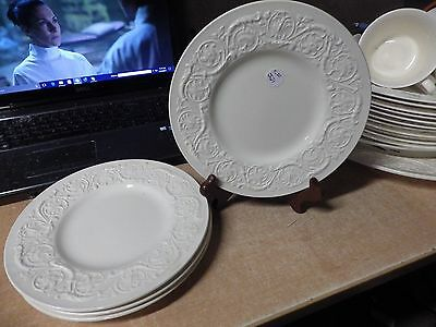VINTAGE ANTIQUE WEDGWOOD PATRICIAN LOT OF 4 DINNER PLATES 10-5 2
