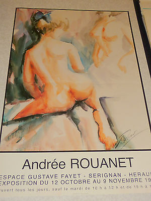 Affiche exposition andree rouanet nus