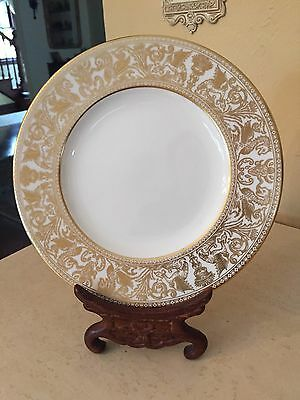 WEDGWOOD china FLORENTINE GOLD W4219  SALAD PLATE 8 EXCELLENT