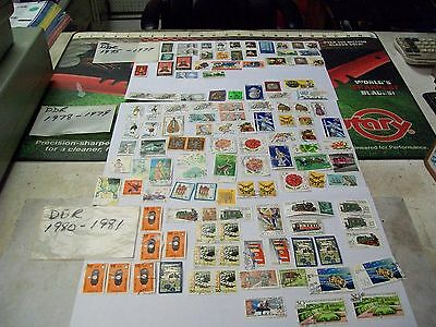 Used postage stamps from east Germany DDR 1975 - 1981 lot  75