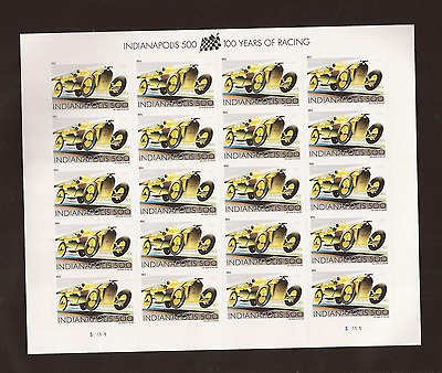 US  4530 INDIANAPOLIS 500 MINT SHEET OF 20 Forever Stamps - MNH