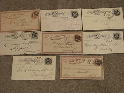 US Postal Cards with Fancy Cancels 8 Lot P6