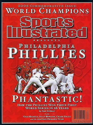 Phillies 2008 World Series Champions Sports Illustrated Commemorative Magazine