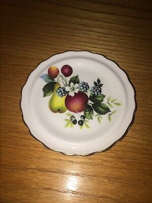 Vintage Royal Grafton Small Butter Plate 4 Used Pear Apple Blueberries