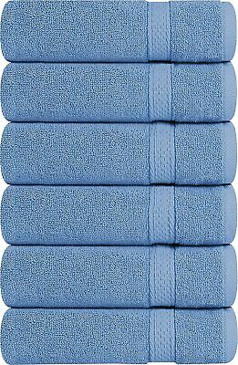 6 Pack Premium Large Hand Towels 700 GSM Cotton 16 x 28 Inches Utopia Towels