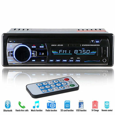 Bluetooth Auto Car Vehicle Player USB SDAUX-INFM IPod Radio Stereo MP3 1 Din