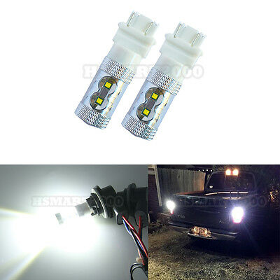 2x 3157 LED White Bulbs 60W CREE XBD Brake Tail Light 3156 3056 3056 3155 4157