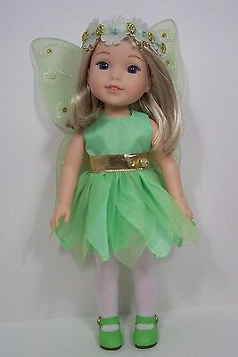 GREEN Tinkerbell Dress Undies Doll Clothes For AG 14 Wellie Wisher Wishers Debs