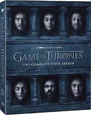 Game of Thrones The Complete Sixth Season 6 DVD 2016 New Free Fast Shipping