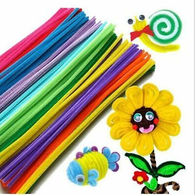 23Color Kids Educational Toys Craft Twist Rods Chenille Stems Pipe Cleaners J