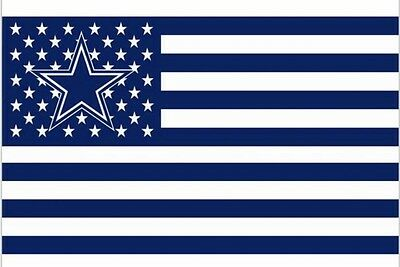 Dallas Cowboys 3x5 Ft American Flag Football New In Packaging