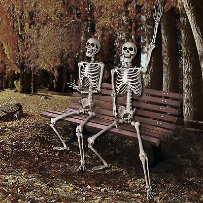 PRE-SALES 5 FT Full Body Skeleton Props Movable Joints Haunted House Halloween