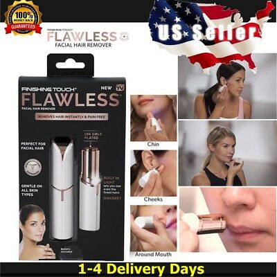 ❤️ New in Box Finishing Touch Flawless Womens Painless Facial Hair Remover