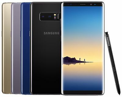 Samsung Galaxy Note 8 SM-N950FDS 64GB FACTORY UNLOCKED Black Gold Gray Pink