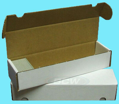 3 BCW 800 COUNT CARDBOARD CARD STORAGE BOXES Trading Sports Case Baseball MTG