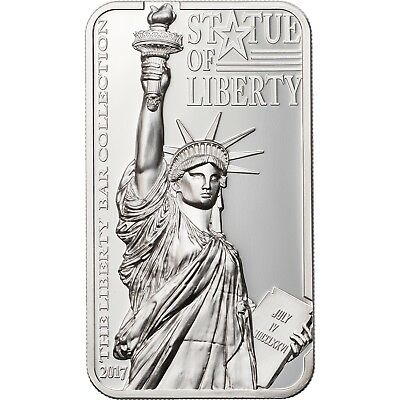 2017 10 Cook Islands Statue of Liberty 2oz -999 Silver Coin