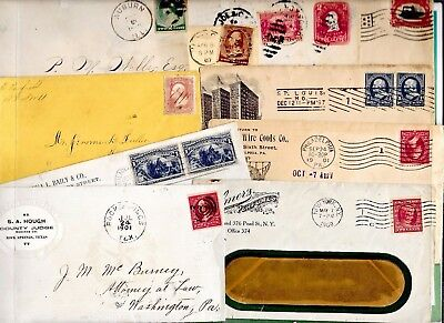 US POSTAL HISTORY  EARLY  COVER COLLECTION BUILDER LOT OF 10 ENTIRES   N3060
