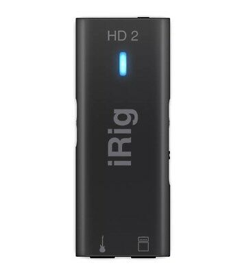 IK Multimedia Irig Hd 2 Digital Guitar Interface For Ios NEW