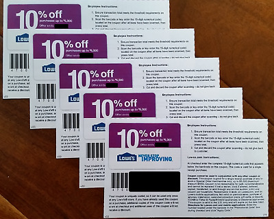 3  THREE Lowes 10 OFF-Coupons Online -InStore-Exp 113017-Fast FAST Delivery
