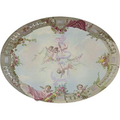 Dollhouse Wallpaper Ceiling Mural Sky Cupid - Roses