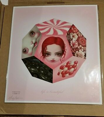 SIGNED Rare Mark Ryden Life is Beautiful Lithograph Poster Print brainwash