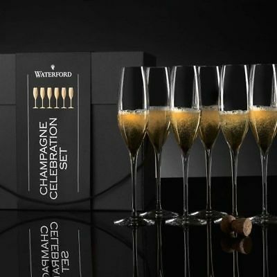 Waterford Elegance Champagne Classic Flute Set of 6 NEW IN THE BOX
