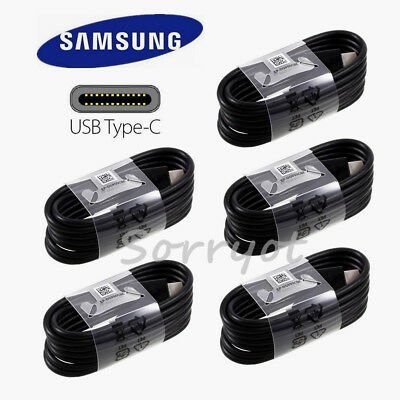 5x OEM Samsung USB 3-1 Type-C cable 4FT fast charger F Galaxy Note8 S8 S9- BK