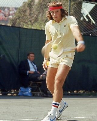 1977 Tennis Pro GUILLERMO VILAS Glossy 8x10 Photo Print Wimbledon Open Poster