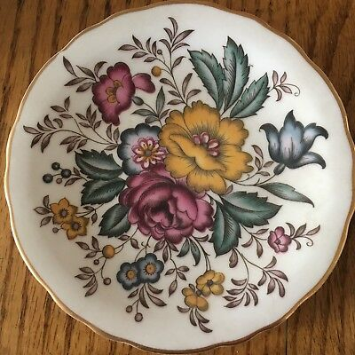 Royal Grafton Fine Bone China England  4 12 Diameter pink and orange floral