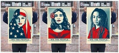 Official 3 posters WE THE PEOPLE 24X36 LITHOGRAPH  SET OBEY GIANT SHEPARD FAIREY