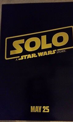 SOLO A STAR WARS STORY POSTER  DS 27 X 40   BRAND NEW AUTHENTIC STUDIO POSTER