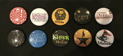 Lot of 10 BROADWAY 1 ButtonsPins PARTY FAVORS - Lot 2