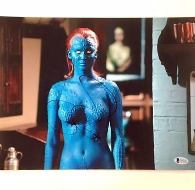 JENNIFER LAWRENCE Autograph Signed X-MEN Mystique 11x14 Photo w BAS Beckett COA
