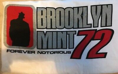 Forever Notorious BIG Biggie Smalls Silhouette HipHop Brooklyn Mint 72 Shirt XL