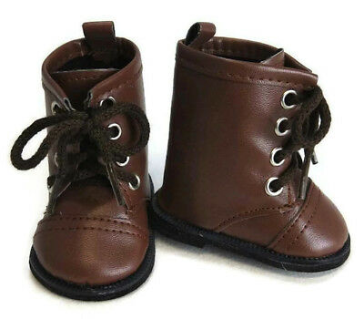 Doll Clothes fits 18 American Girl Brown Work Boots Kirsten Pioneer