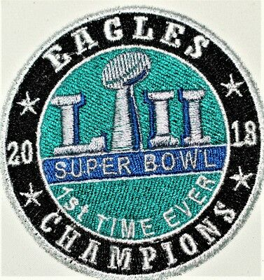 Philadelphia Eagles Superbowl LII 52 Embroidered Patch-Free Shipping US