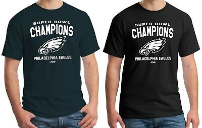 Mens Philadelphia Eagles Super Bowl Champions LII 2018 Champs T-Shirt S-3XL